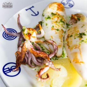 calamar fresco a la plancha el cortijo restaurante