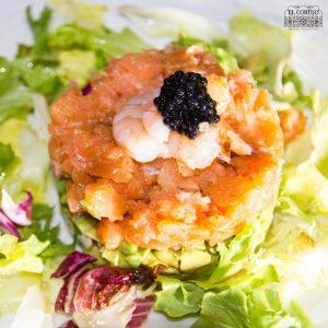 tartar de salmon y aguacate el cortijo restaurante